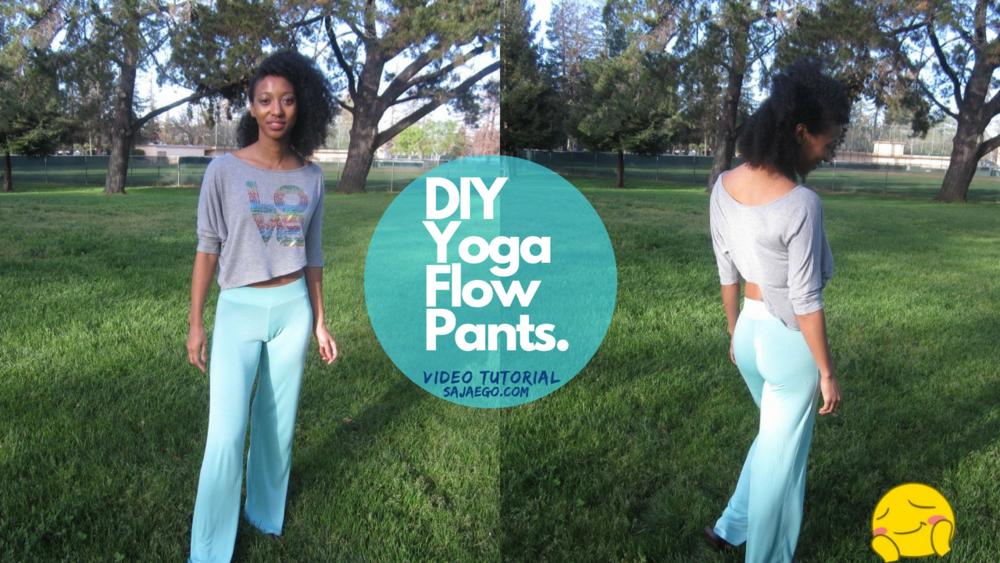 DIY Yoga Pants Tutorial SajaEgo