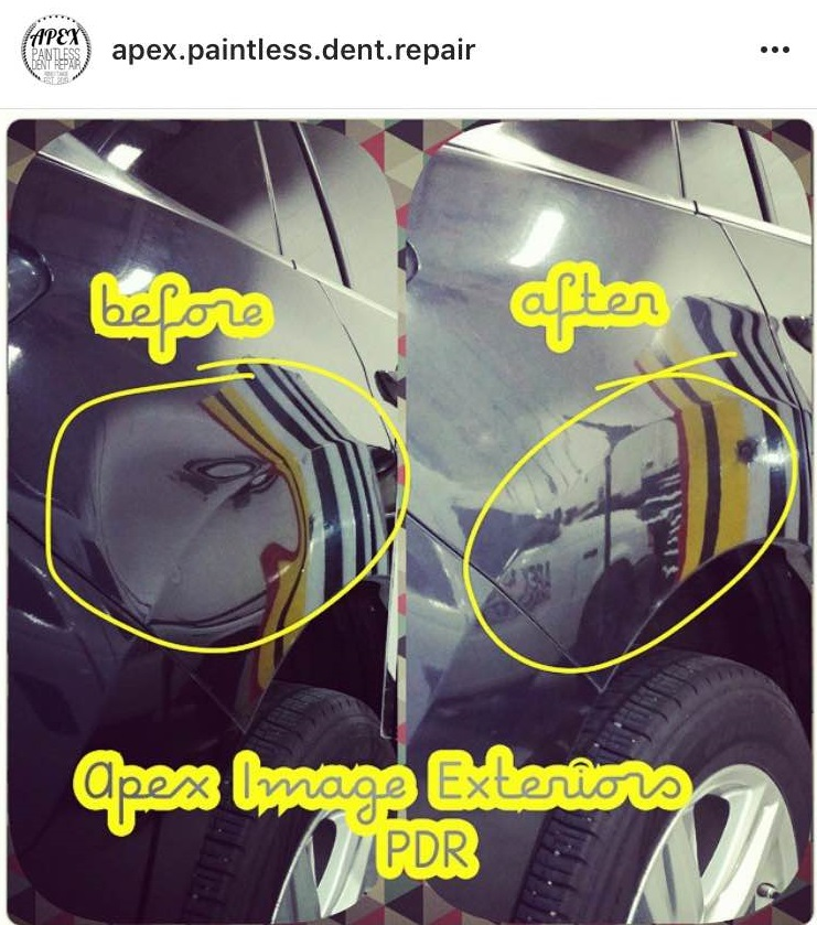 BEFORE AND AFTER GNAR FENDER DENT. 100% PDR REPAIR SAVED THE CLIENT TIME AND MONEY WITH A QUALITY REPAIR.jpg