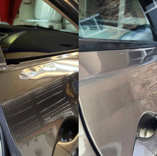 BEFORE AND AFTER LINE DENT ON DOOR.jpg