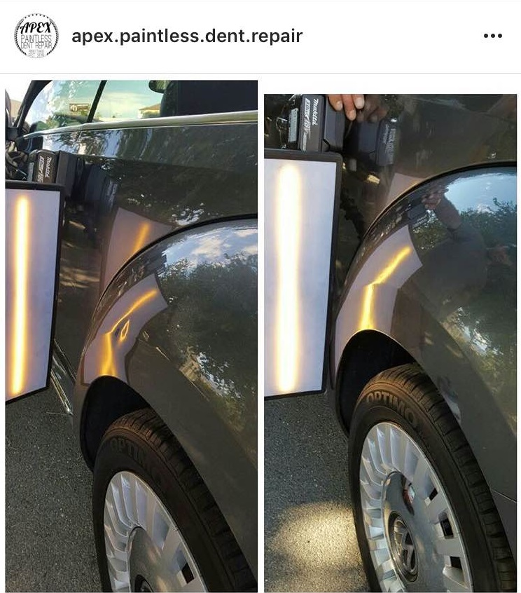 BEFORE AND AFTER SHARP BODY LINE DENT ON VW BEETLE 100%PDR.jpg