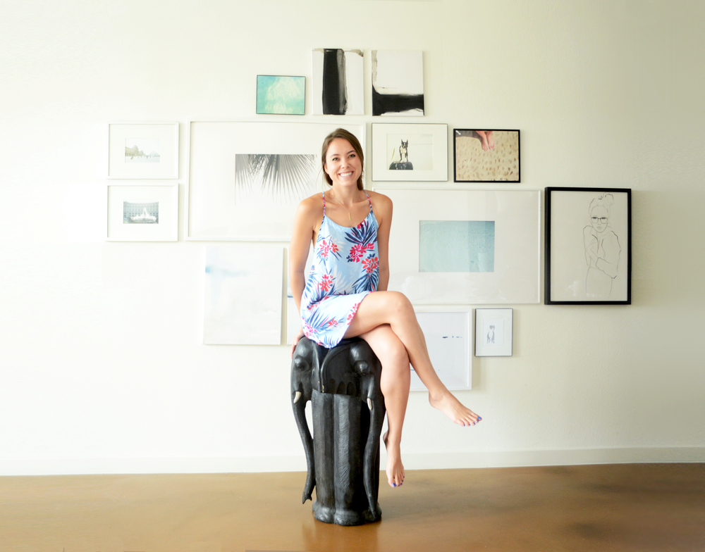 Meet Danie Selby with some of her work behind her.