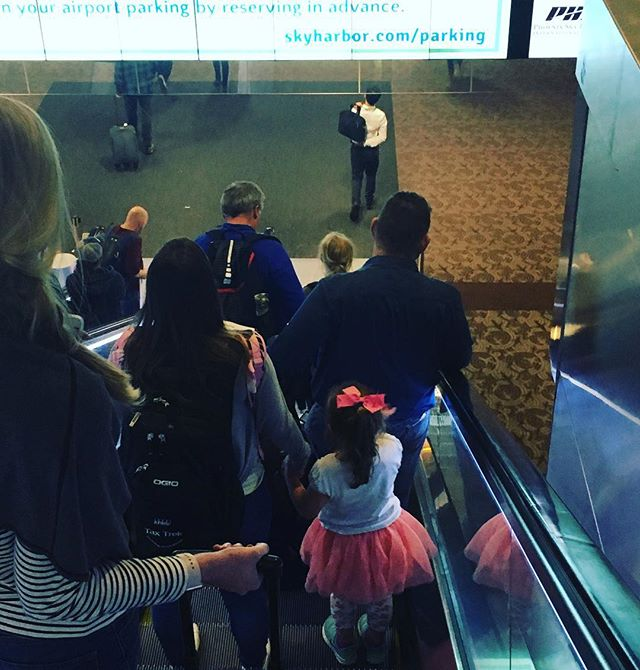 Tutu Tuesday! It's important to travel in style! #tututuesday @phxskyharbor  #bravetutu #takecourageindelight #takenotice #Iamjealousofkidstutus #tutuaccess #traveltutu #tutusighting