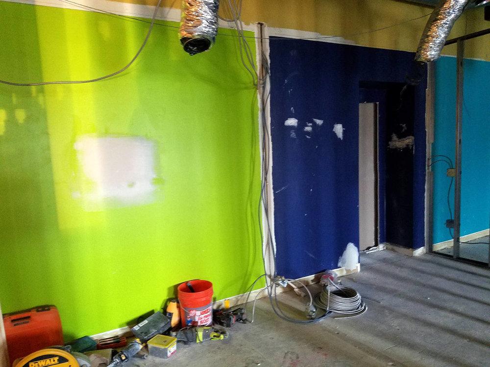 Week 3 - Kids Expansion Drywall - Entrance Hallway