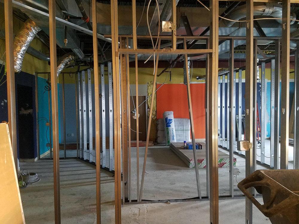 Week 3 - Kids Expansion Drywall - Worship Room
