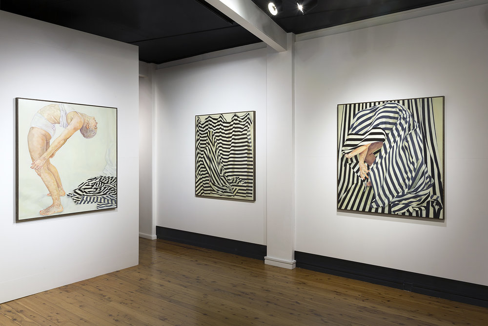 Installation view of Clare Thackway's exhibition  Ties,  18 Aug – 10 Sep 2017 The Egg & Dart, Thirroul