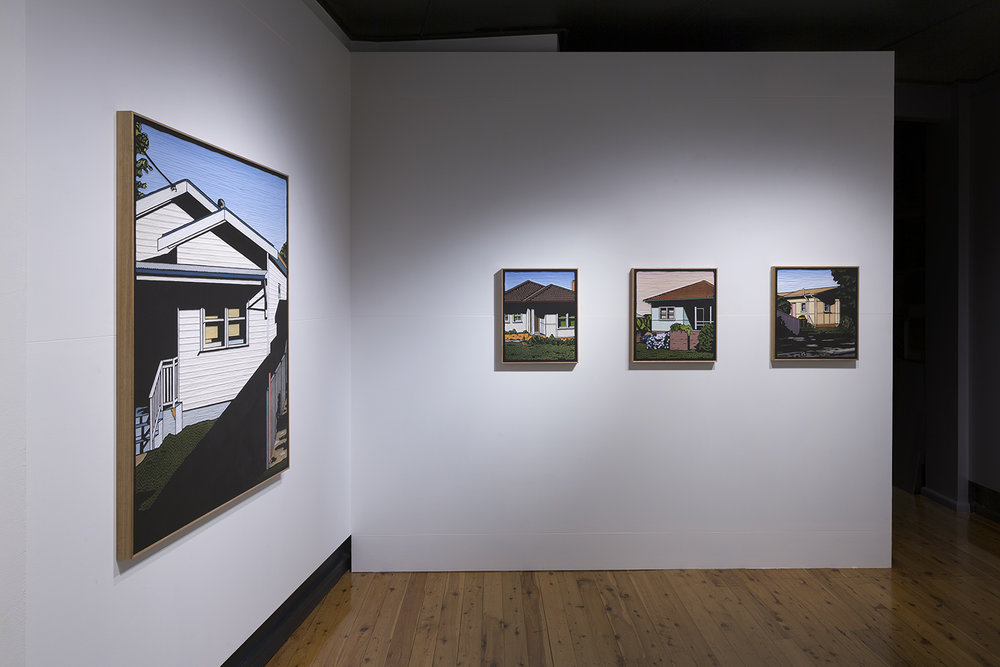 Installation view of Christopher Zanko's artworks in the group exhibition  The Castle   10 May – 3 June 2018, The Egg & Dart, Thirroul
