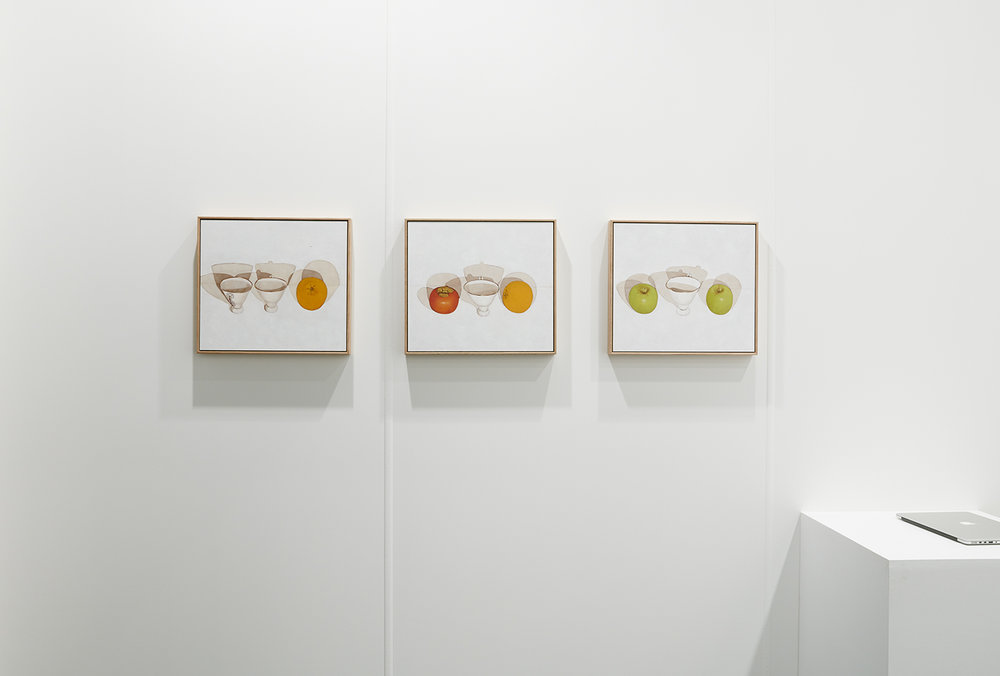 Installation view of India Mark's artworks for The Egg & Dart at Sydney Contemporary 2018, Carriageworks 14 - 17 Sep 2018