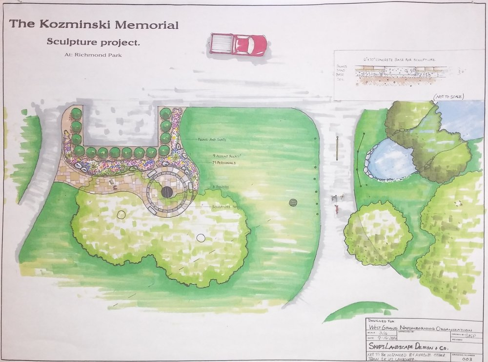 A look at the blueprint for the memorial.
