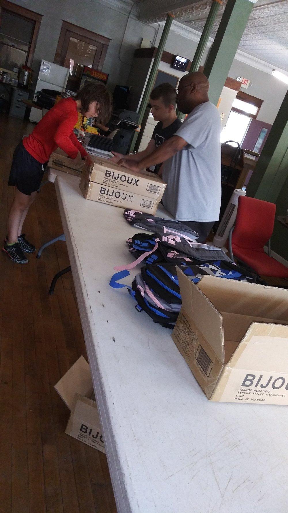 Volunteers Filling