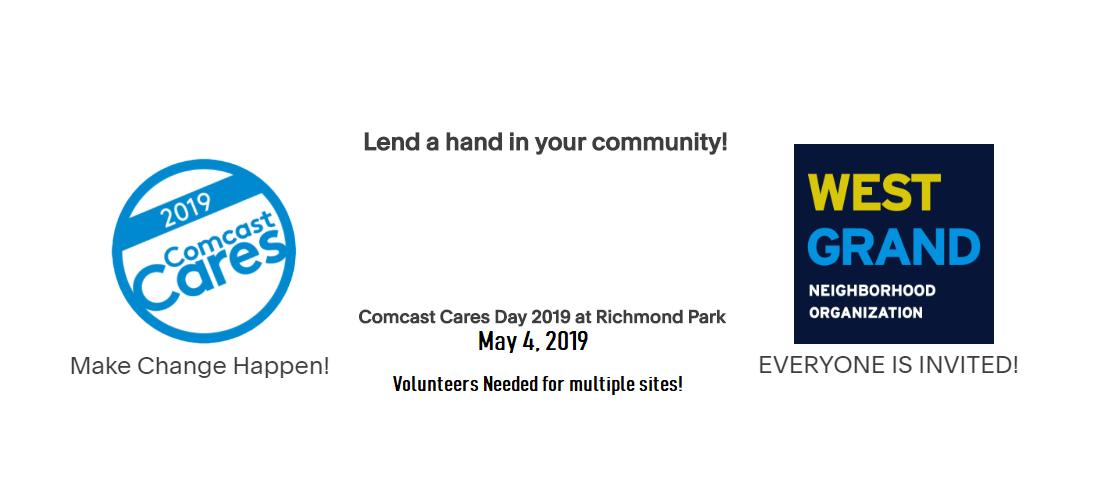 Comcast Cares Day at Richmond Park — West Grand Neighborhood