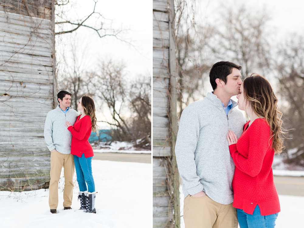 winter engagement session   couples