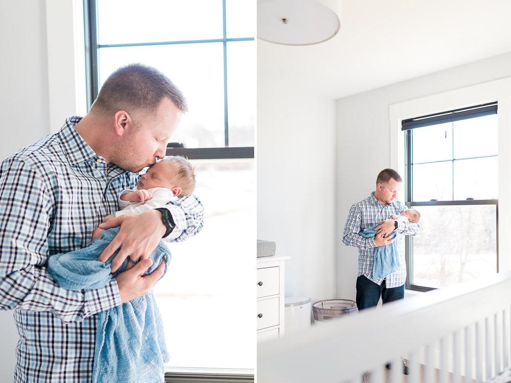 Newborn lifestyle | Natural Light | In home newborn session | Nursery Details | Woodland Nursery