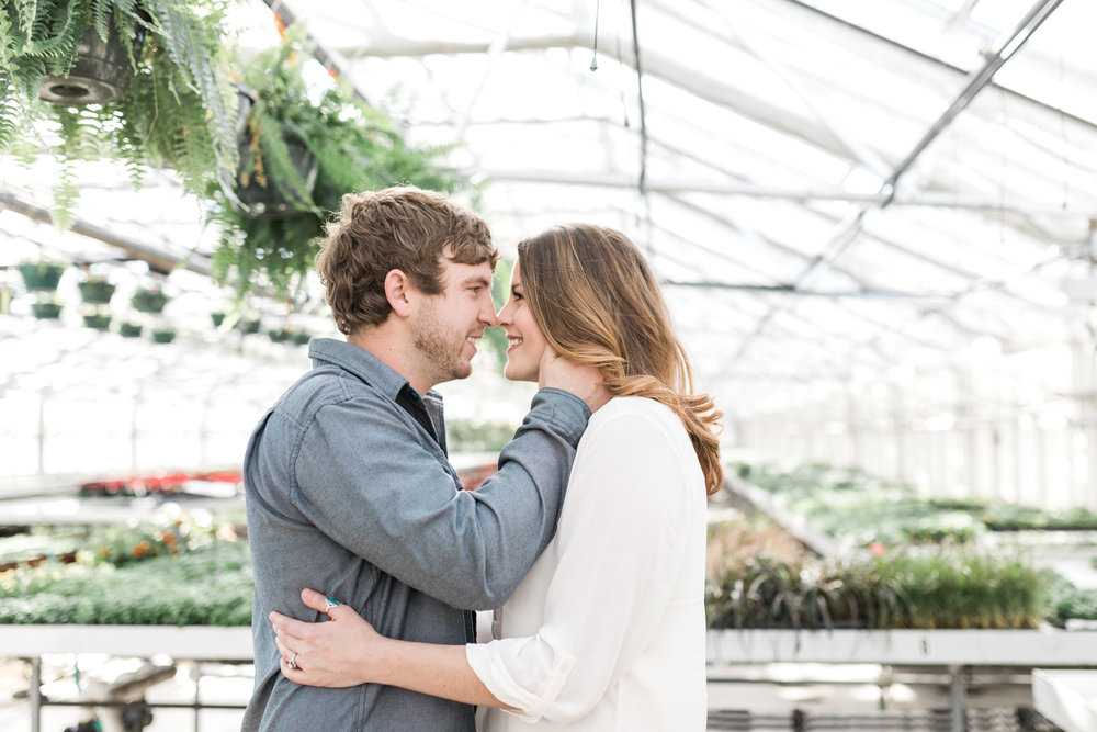 Grand Rapids Michigan Greenhouse Engagement Session