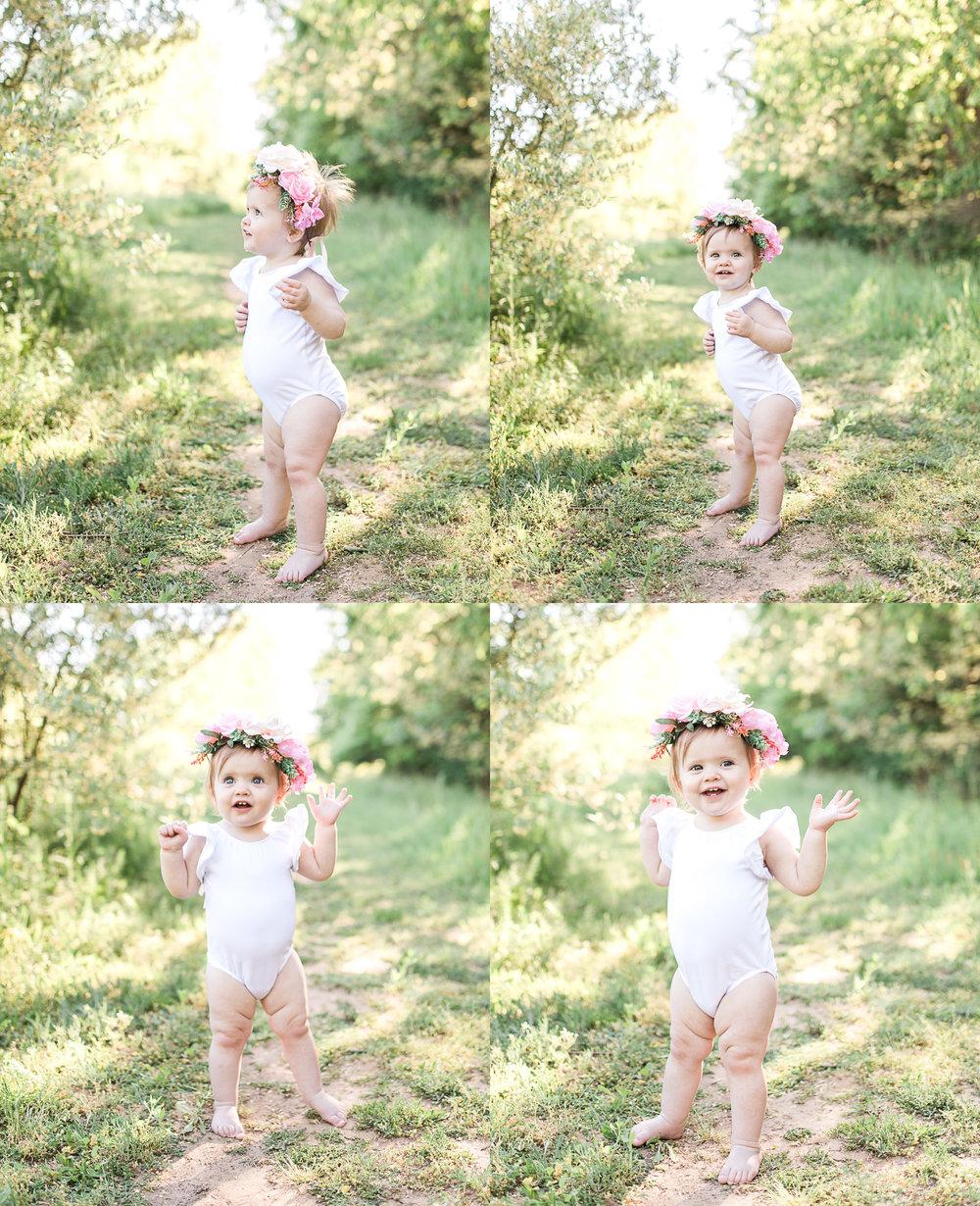 First Birthday Photos | Baby girl | Pink tutu | Cake Smash | Family Photos | Flower crown | What to Wear | Intersex Variation