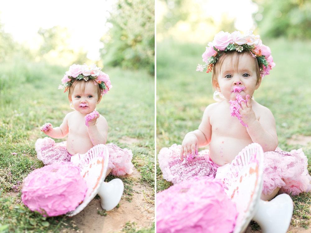 First Birthday Photos   Baby girl   Pink tutu   Cake Smash   Family Photos   Flower crown   What to Wear   Intersex Variation