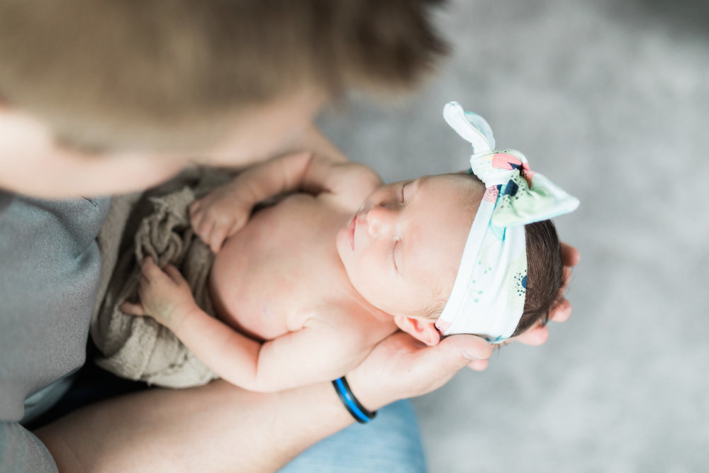 In Home Newborn Lifestyle Session for Baby Girl | Laurenda Marie Photography