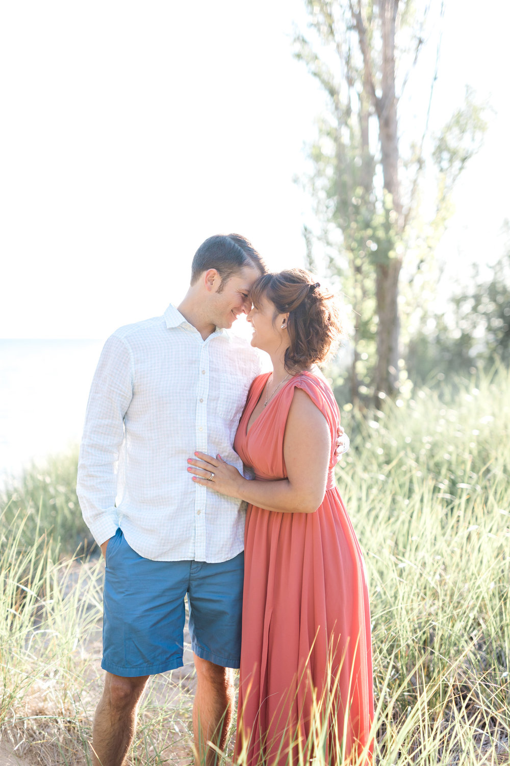 Beautiful Lakeshore beach engagement session in West Olive Michigan | Laurenda Marie Photography