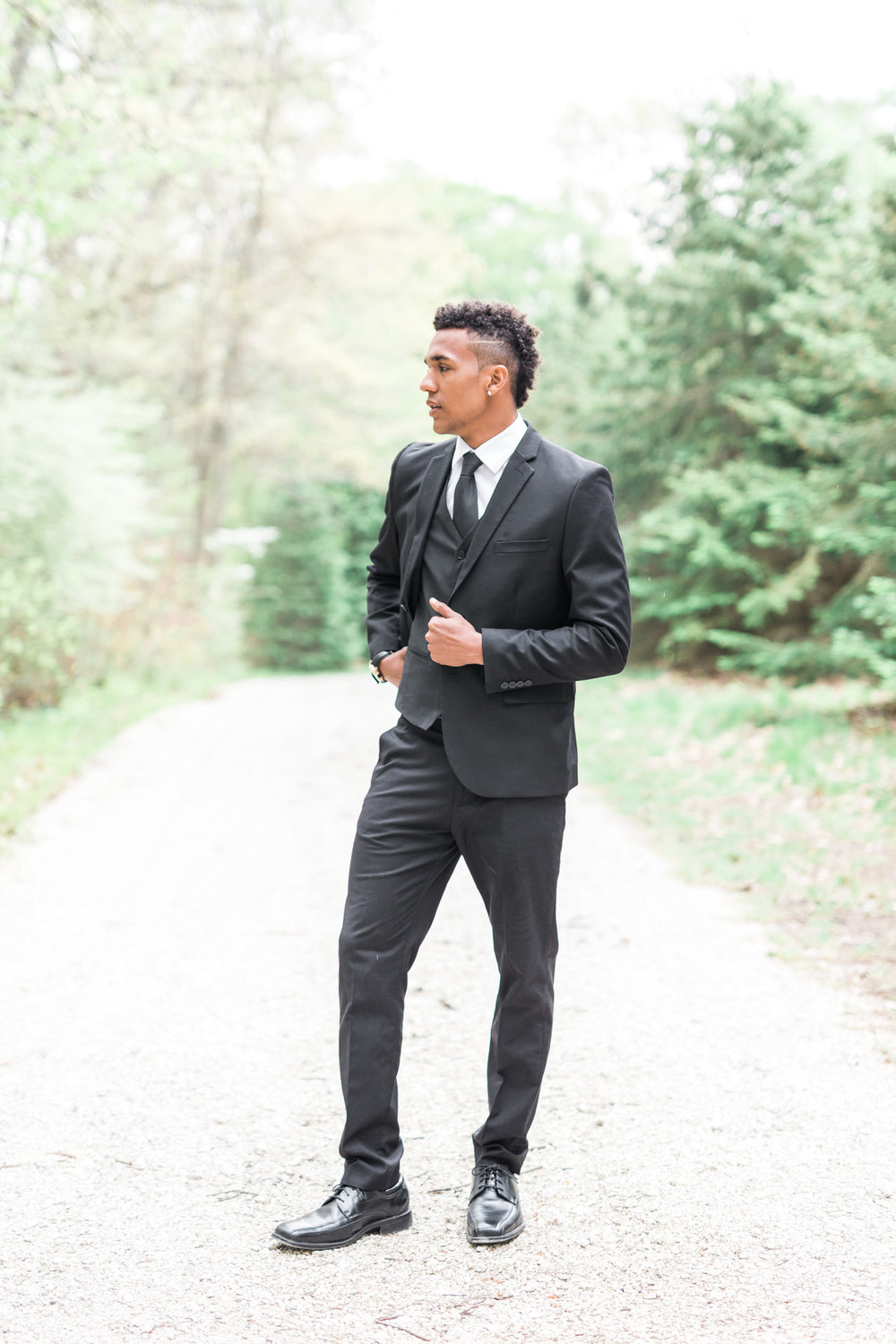 Groom Portrait | Styled Wedding Shoot at Gable Hill Barn | Elegant Chic Wedding | Laurenda Marie Photography | West Michigan Wedding Photographer |