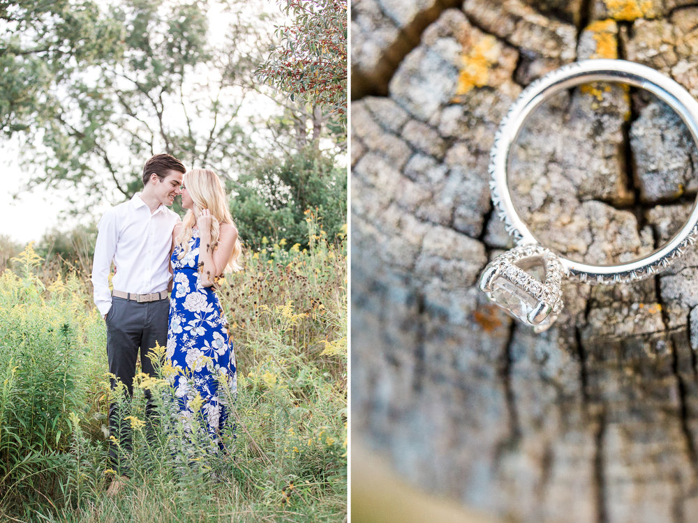 Romantic summer engagement session | Laurenda Marie Photography | West Michigan Wedding and Engagement Photographer