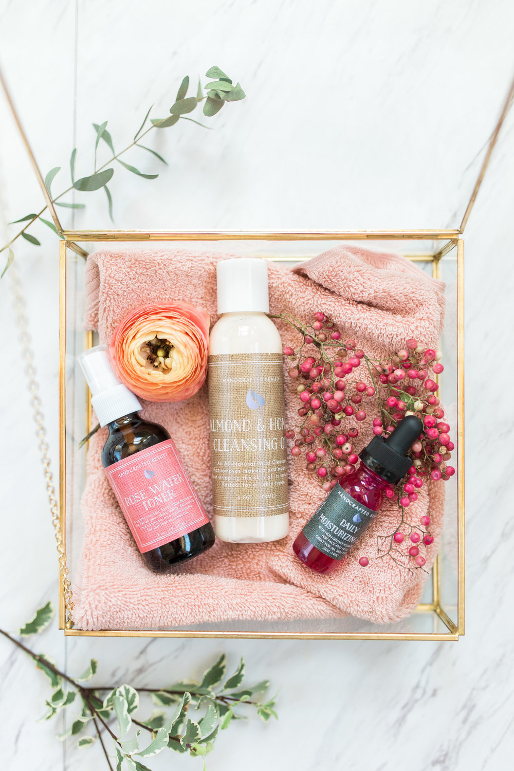 Bridal Party Spa Day With Handcrafted Beauty And Pink Confetti