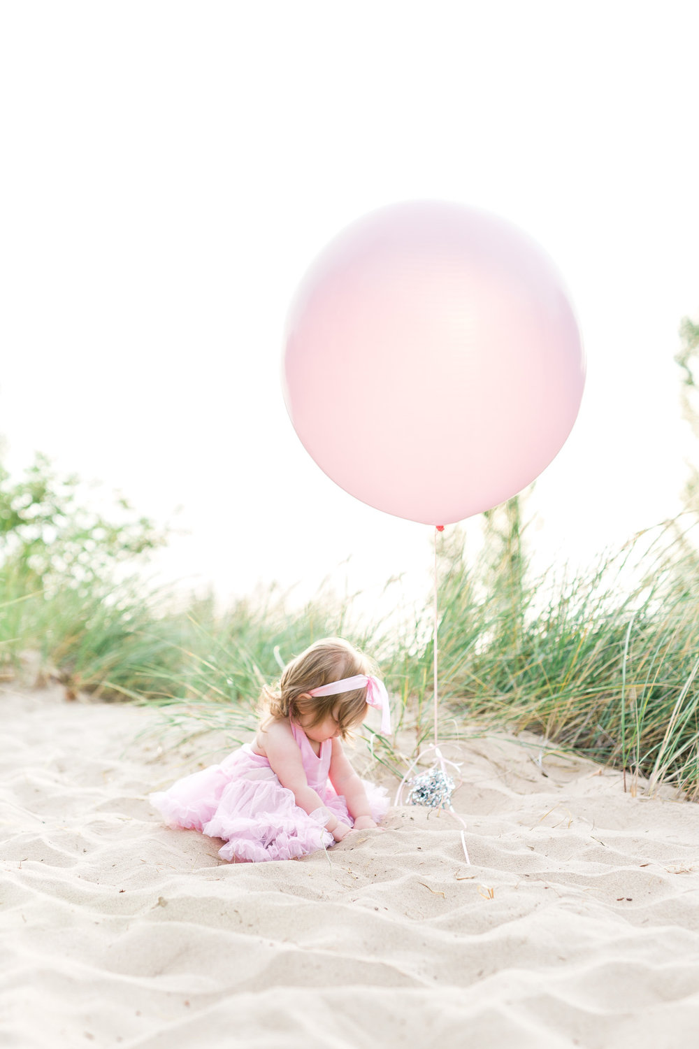 First Birthday Session on the beach | Laurenda Marie Photography | Michigan Family Photographer