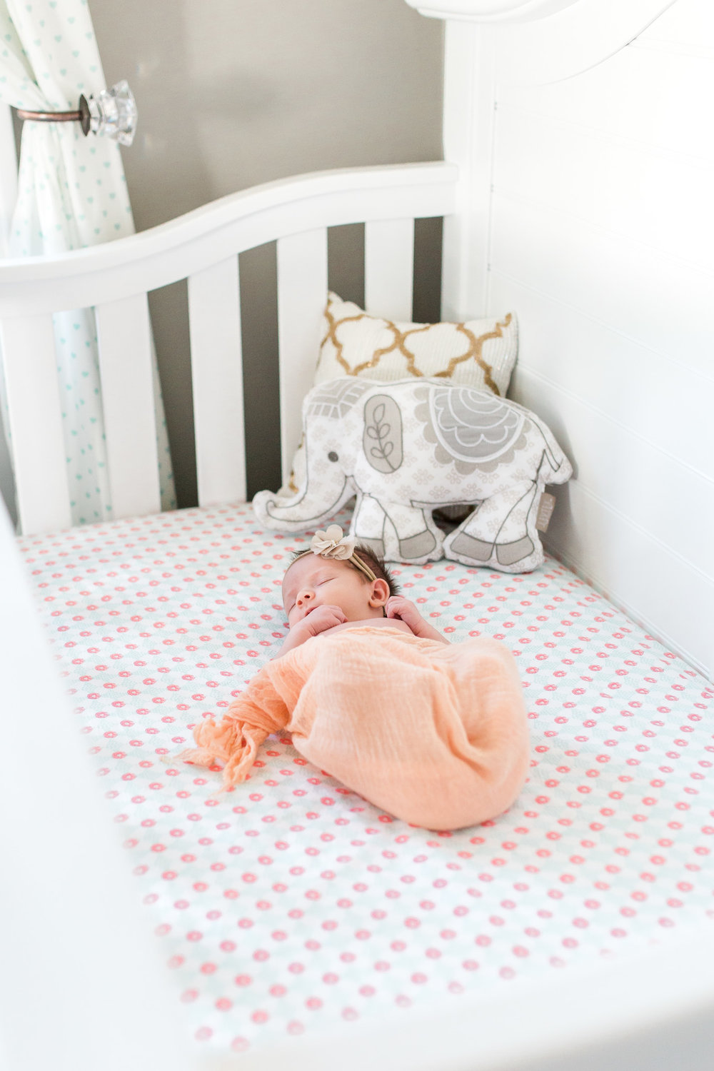 Natural Light Newborn Lifestyle Session   In-home session   Baby Girl   Nursery Inspiration   Laurenda Marie Photography