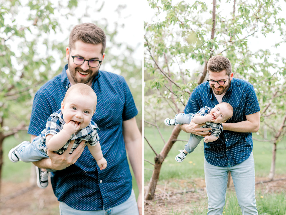 Spring Family Lifestyle Session at the Apple Orchard | Laurenda Marie Photography | Grand Rapids, Michigan