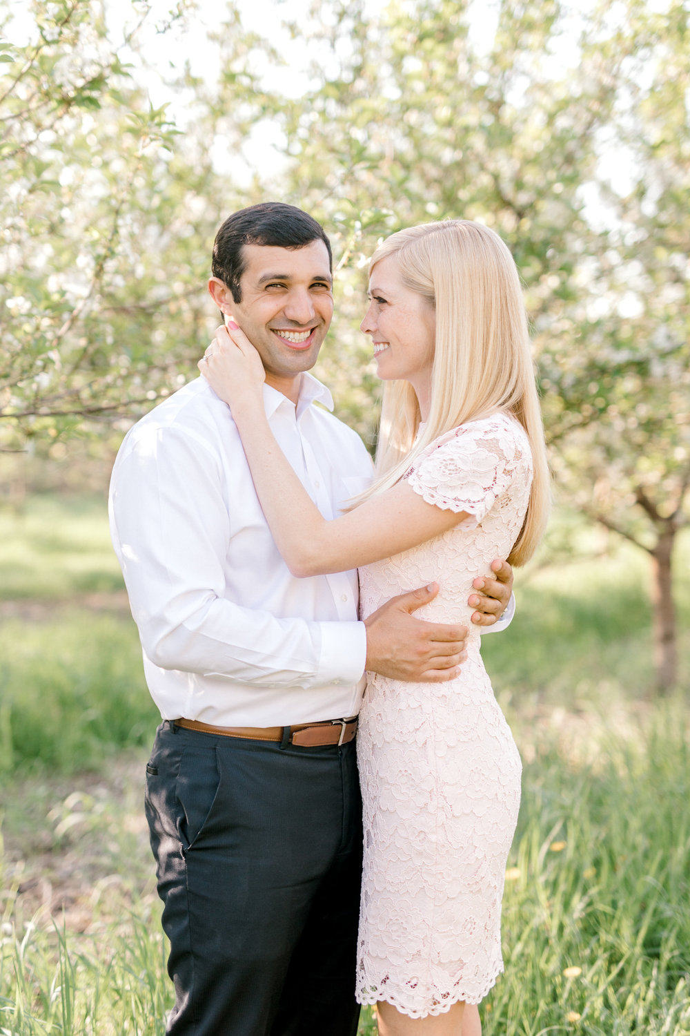 A sweet spring engagement session at the orchard | laurenda marie photography | west michigan weddings | west michigan engagement