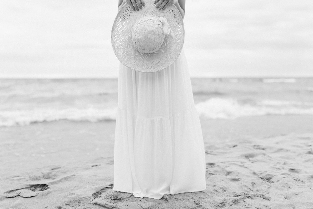Dreamy Lake Michigan Beach Session | West Michigan Engagement | Cloudy Beach Session | Laurenda Marie Photography | West Michigan Wedding Photographer