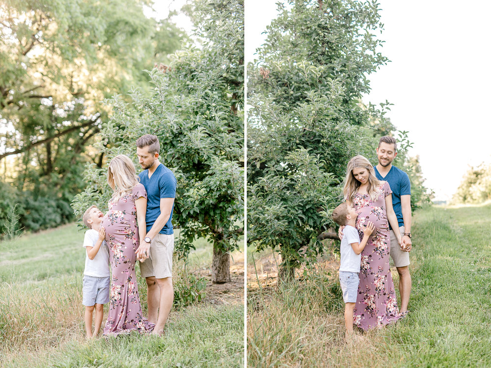 Beautiful Summer Family Maternity Session | Laurenda Marie Photography | Grand Rapids Michigan Maternity Photographer