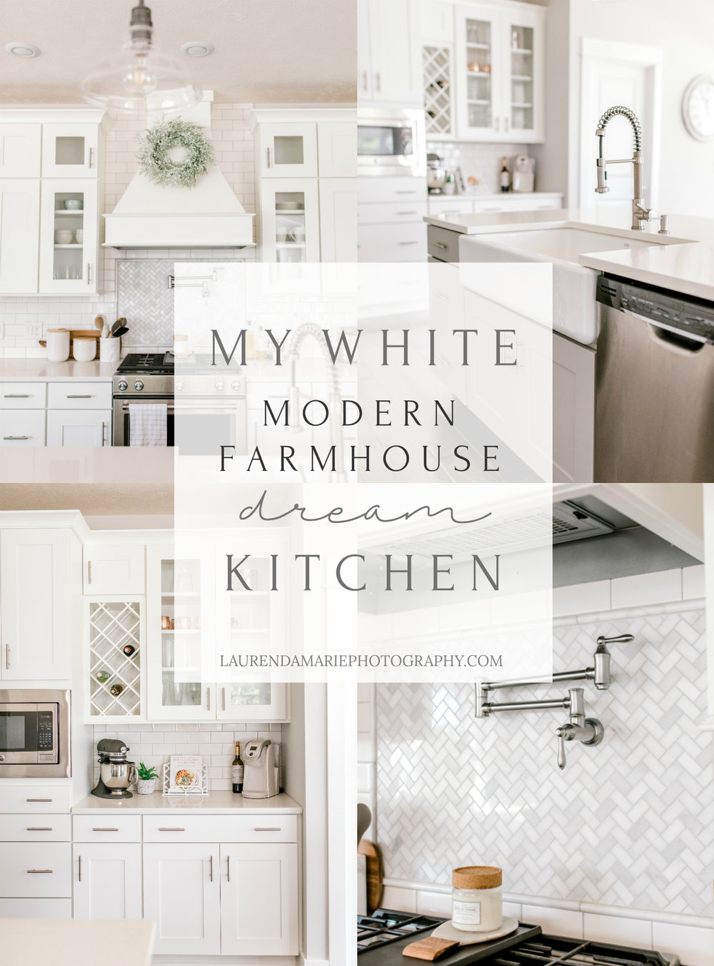 My White Modern Farmhouse Dream Kitchen | White and Gray Kitchen | Fixer Upper Style Home | Joanna Gaines Inspired | Apron Sink | Dream Kitchen | Shaker Cabinets | Eastbrook Homes | Industrial Kitchen