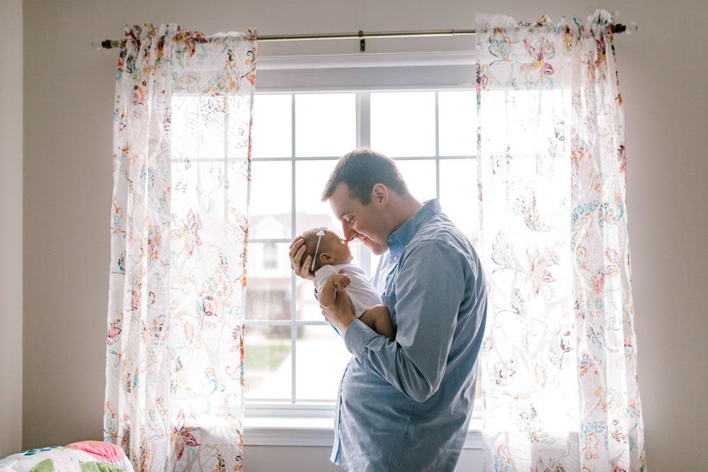 Baby girl in-home lifestyle newborn session | Whimsical colorful nursery | West Michigan Lifestyle Photography v