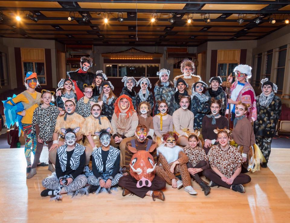 The cast of The Lion King Jr. in the Meijer Theater.   Photograph by the People Picture Company.