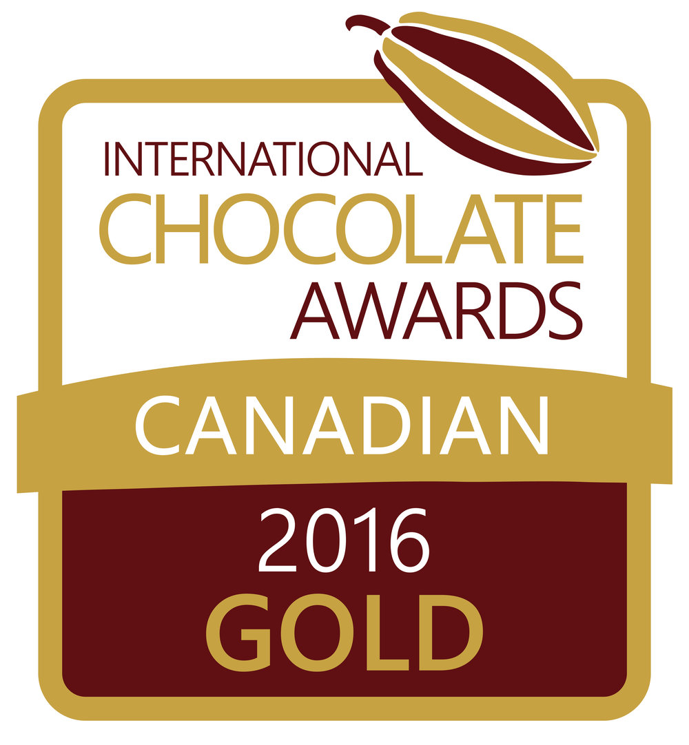 2016 Canadian Gold Winner International Chocolate Awards
