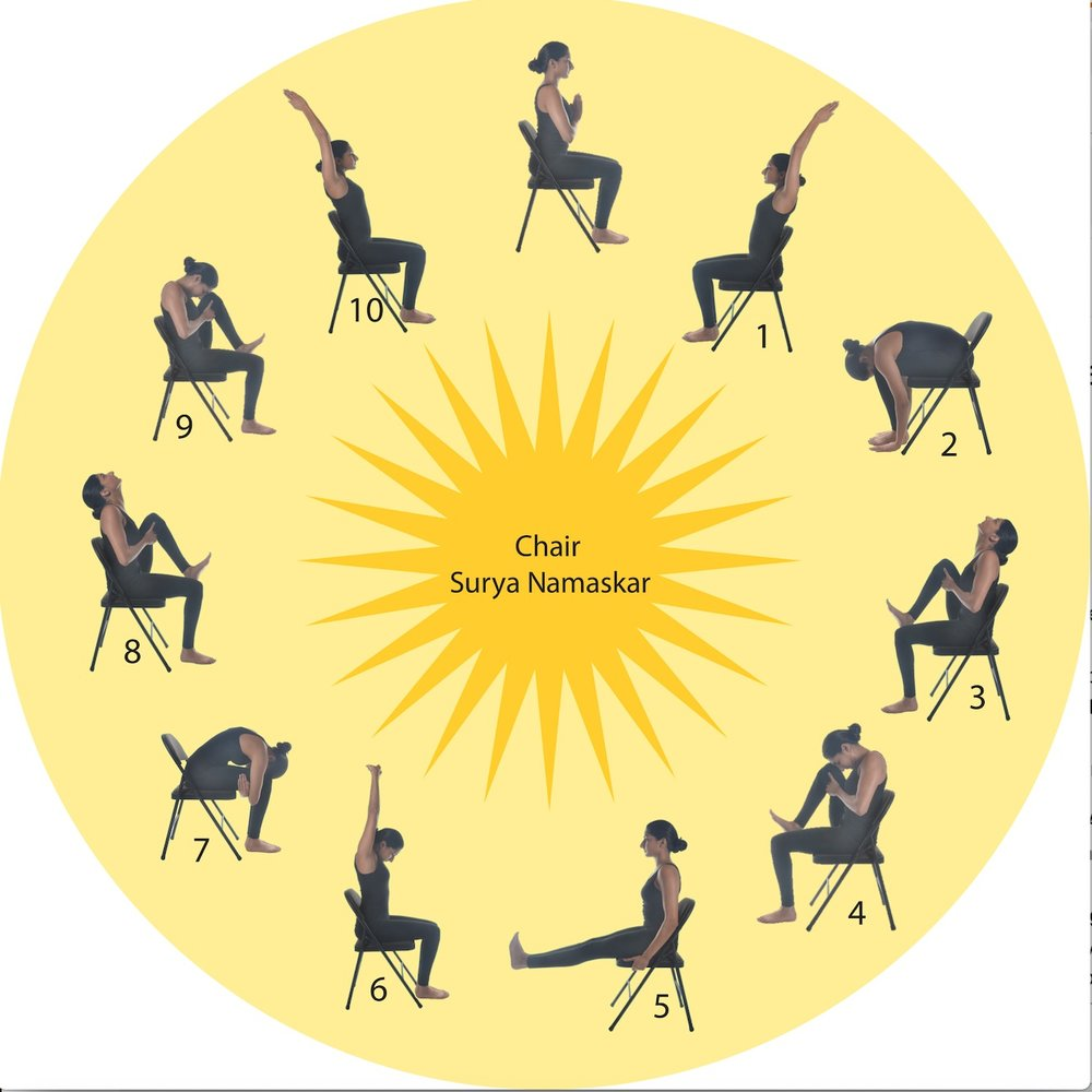 Surya Namaskar on Chair - for Arthritis, seniors etc