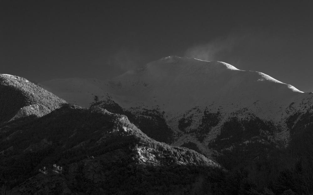 Moody morning mountain