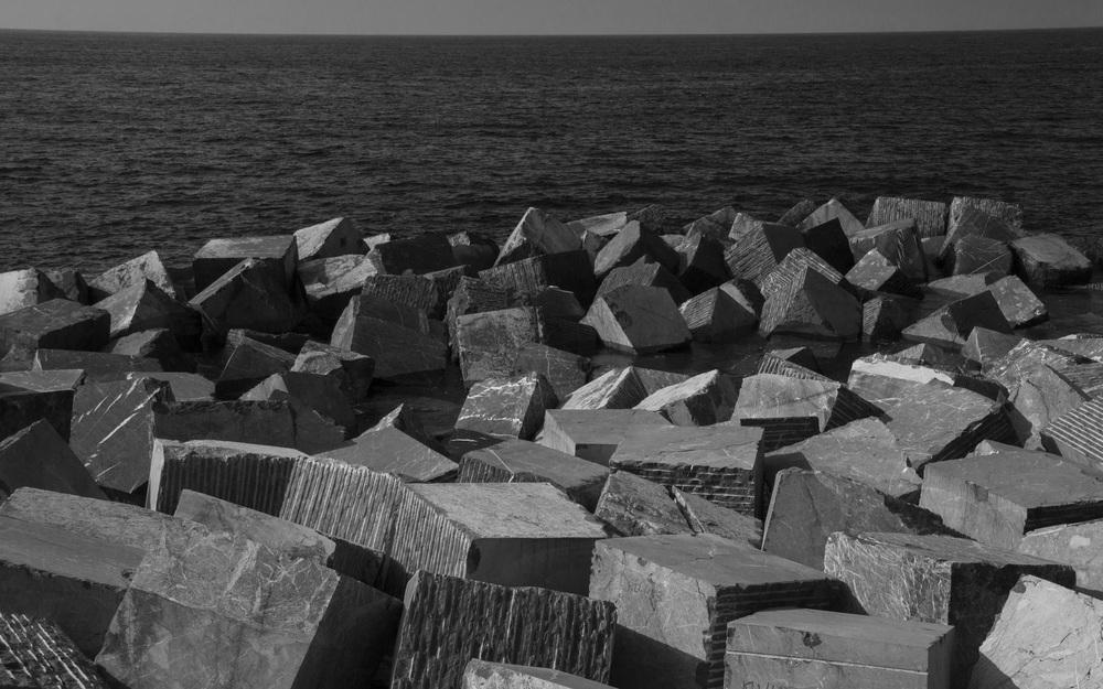 San Sebastian - cube rocks bw.jpg