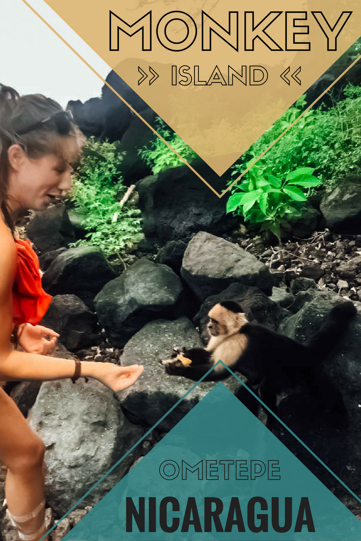 monkey island, ometepe, nicaragua pinterest pin