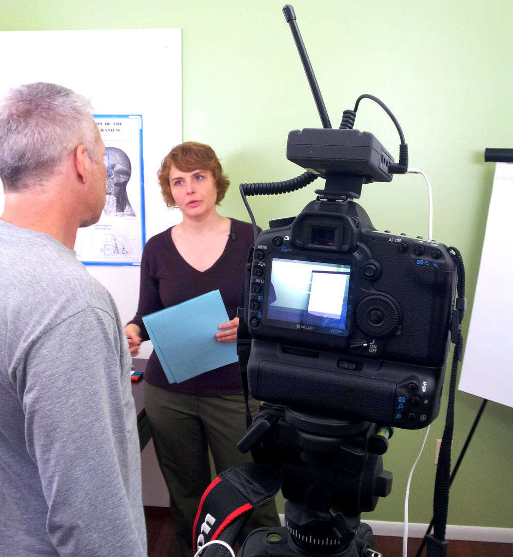 Video shoot for On-line Classes