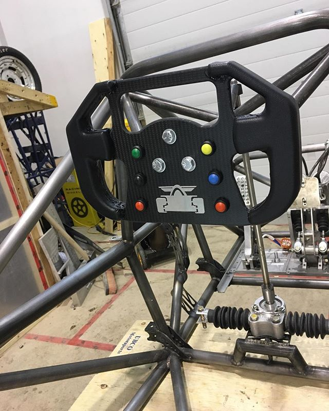 Steering wheel came out pretty decent, now off to play some forza! . . . . #fsae #car #cars #motorsports #racing #forza #race #racecar #builtnotbought #steer #steeringwheel #f1