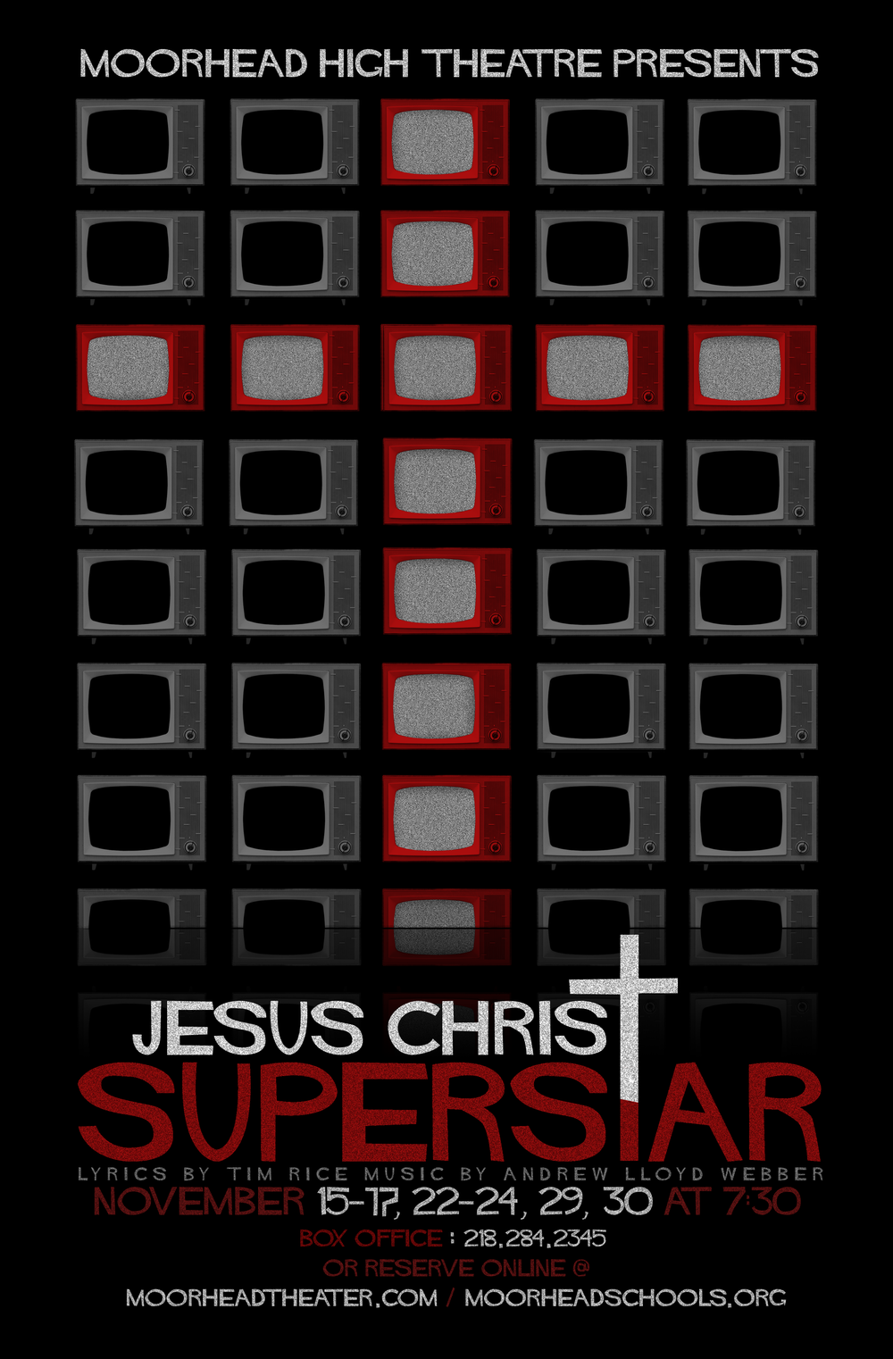Poster designed for Moorhead High School's 2013 production of  Jesus Christ Superstar.