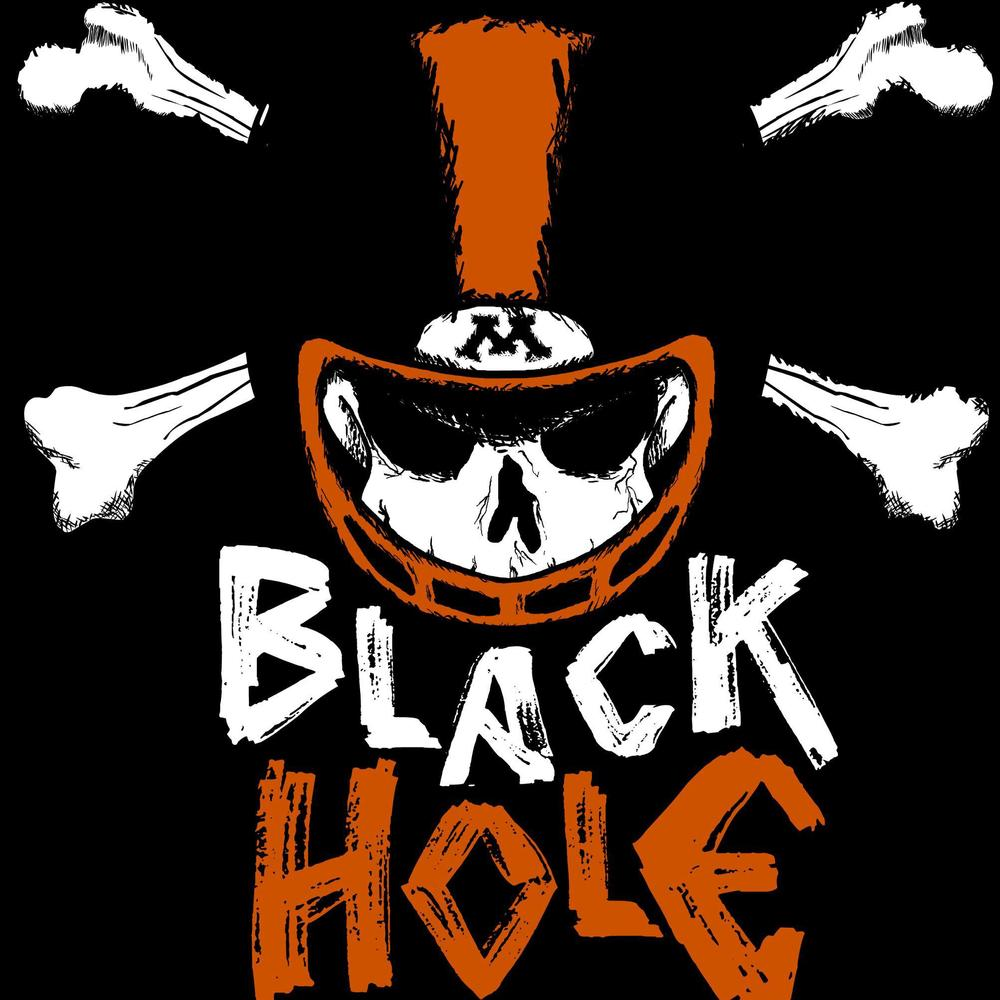 "T-shirt design for the ""Black Hole"" football student section at Moorhead High School."