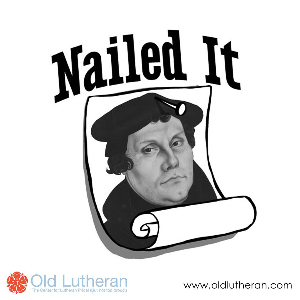 T-shirt designed for Old Lutheran, a printer that sells Lutheran-based apparel and merchandise.