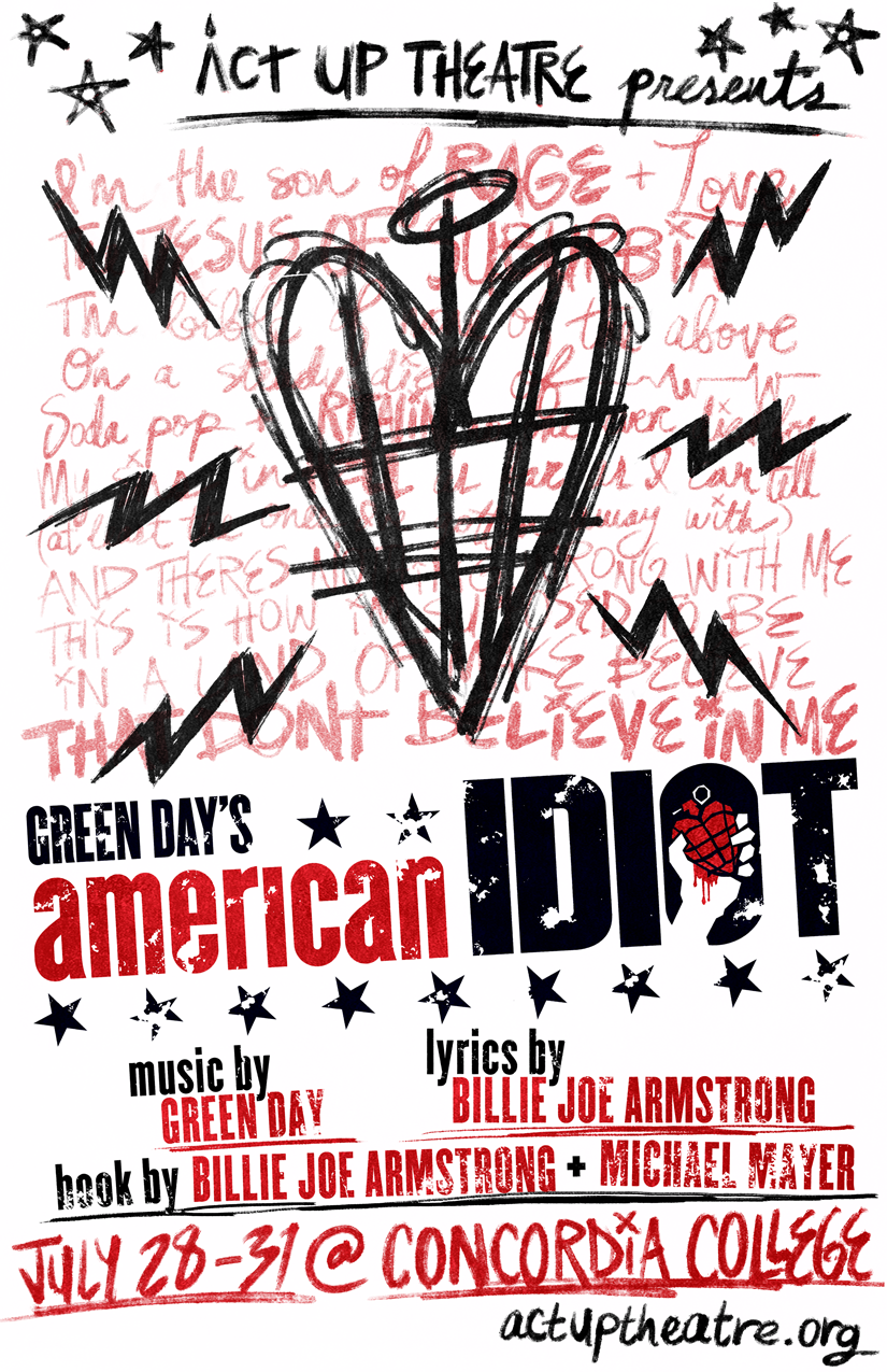 Concept for  American Idiot  poster