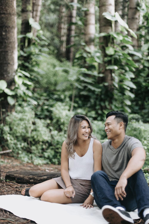 oahu hawaii engagement portrait photographer tantalus 1