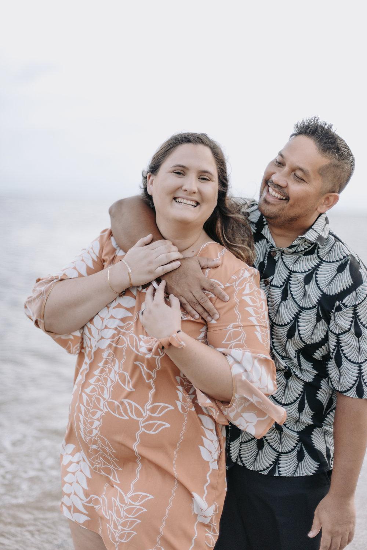 oahu hawaii engagement portrait photographer kahala beach 1