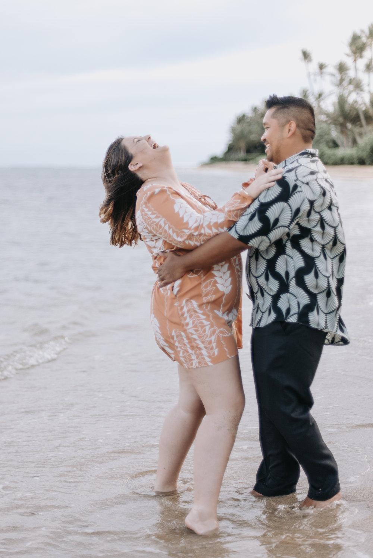 oahu hawaii engagement portrait photographer kahala beach 2