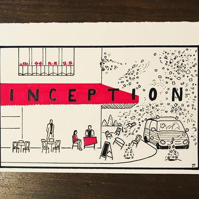 Day 4to5and6!  #Inception #2001aspaceodyssey  #Terminator2  #inktober #art #ink #illustration #typography #movie #horror #scifi #nolan #cameron #kubrick #halloween #chicago #space #illustrationccc