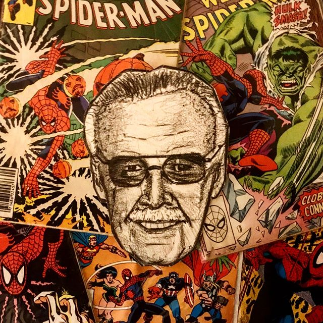 Stan Lee. His super power was his imagination. He created universes that inspired ours. His characters are modern day myths. Stan Lee thank you!  #StanLee #RIP #Marvel #spiderman #hulk #avengers #ironman #xmen #comic #comics #hero #superhero #illustration #collage #illustrationccc  #art #chicago
