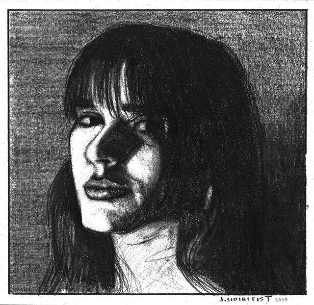 Portrait of a tough woman.  #illustration #comics #charcoal #portrait #drawing #art #pencil #figuredrawing #illustrationccc #chicago #molls #tough